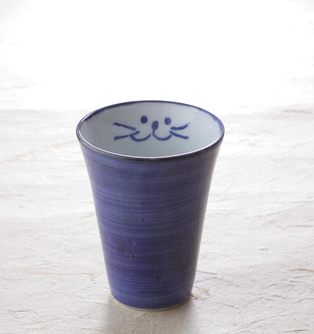 フリーカップ青