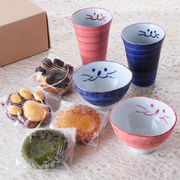 ぎゅぎゅっと、フリー、ペア、食器、焼き菓子、フリーカップ、小茶碗、イメージ