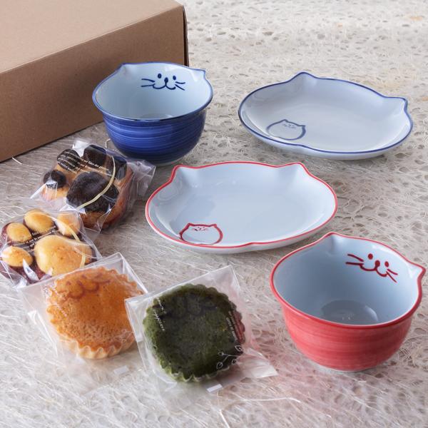 ぎゅぎゅっと、ごはん、ペア、食器、焼き菓子、ご飯茶碗、楕円皿、イメージ