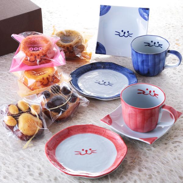 ぎゅぎゅっと、プレミアム、ペア、食器、焼き菓子、マグカップ、コーヒーカップ、取り皿、イメージ