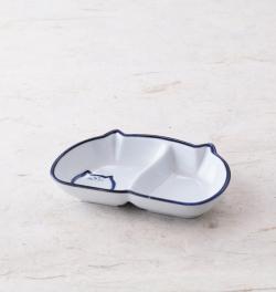 二切皿 食器 猫 のらや 美濃焼 磁器 薬味