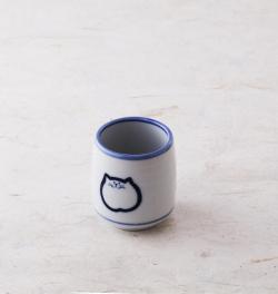 湯呑 猫 食器 のらや お茶 美濃焼 磁器