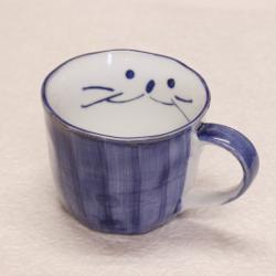 コーヒーカップ,ブルー,顔,大