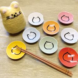 カラフル箸置き小皿,箸置き小皿,猫食器