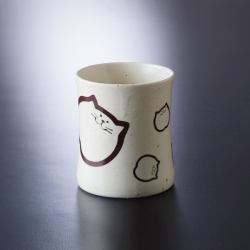 猫食器、レトロ、カップ、のらちゃんカップ
