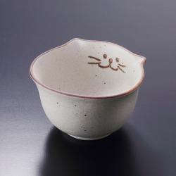 猫食器、レトロ、ご飯茶碗