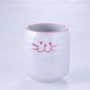 湯呑,猫,ピンク,お茶