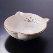 猫食器、レトロ、浅鉢