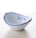 バスケット 青 ブルー 猫 のらや 美濃焼 磁器 サラダ