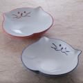 楕円皿 デザート 食器 猫 のらや 美濃焼 磁器
