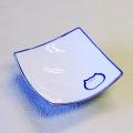 猫食器,のらや,渦角小鉢,ブルー