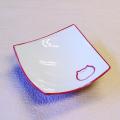 猫食器,のらや,渦角小鉢,ピンク